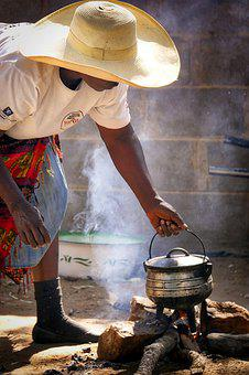 Africa, Zimbabwe, Human, Woman, Cook, Cooking Pot