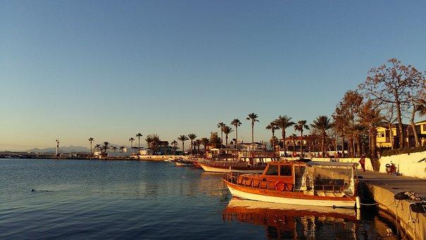 Turkey, Side, Resort, Yachts, Palm Trees