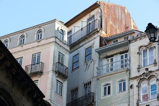 Portugal, Coimbra, Windows, Streetscene, Architecture