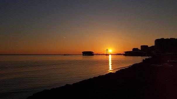 Sunset, Sea, Ocean, Sun, Nature, Beach, Summer
