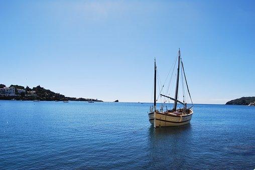 Boat, Landscape, Barca, Water, Sky, Beach, Horizon