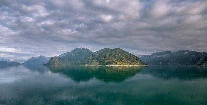 Alaska, Mountain, Wilderness, Island, Scenery, Calm