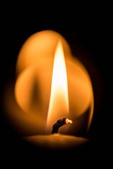 Candle, Flame, Warm, Closeup, Macro, Glowing