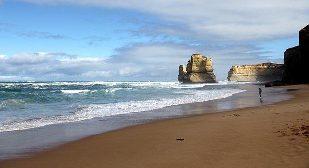 Australia, 12, Apostles, Victoria, Coast, Ocean