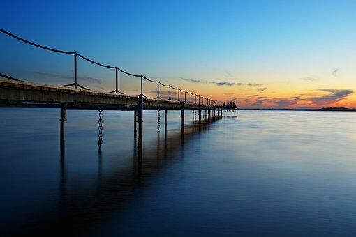 Holiday, Sunset, Summer, Water, Beach, Coast, Sea