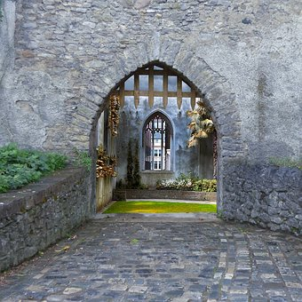 Building, Scenic, Gate, Old, Stone, Travel