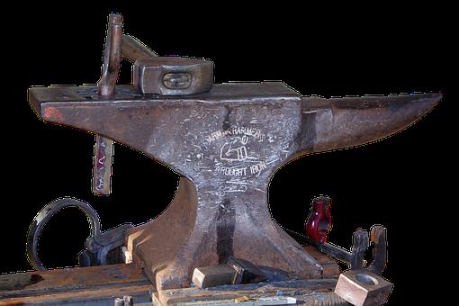 Anvil, Forge, Bending, Blacksmith, Hammer, Metal