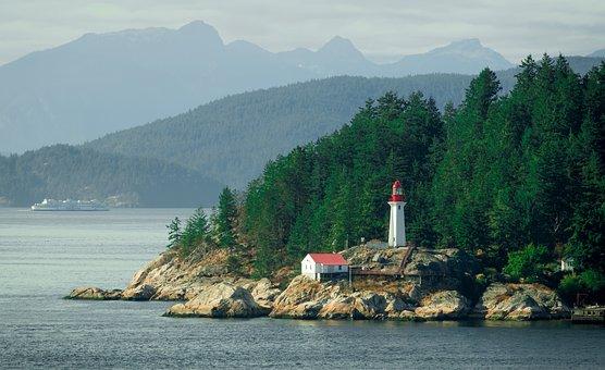 Lighthouse, Vancouver, Island, Canada, Beacon