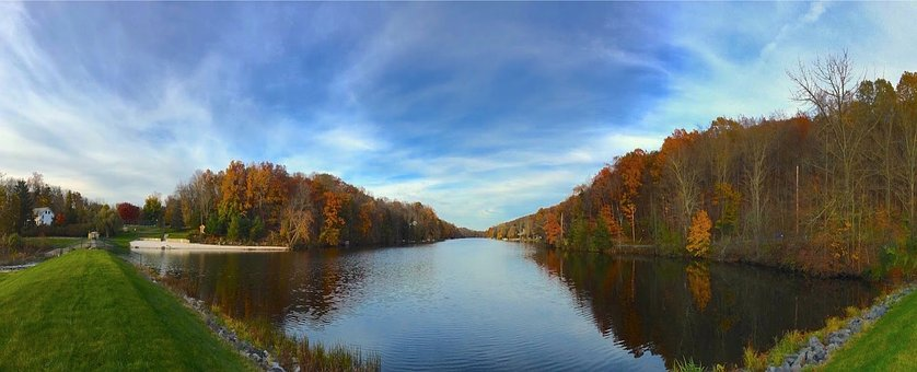 Lake, Water, Fall, Foliage, Landscape, Nature