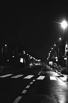 Street, Night, Light, Seat Belts, Transition