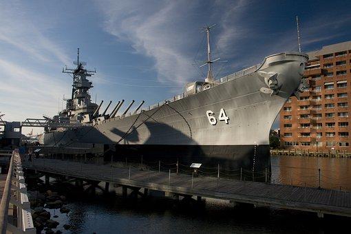 Battleship, Victory, Monument, Artillery, Guns
