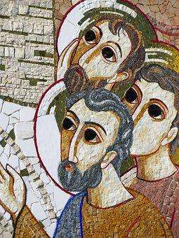 Heavy, Basilica, Mosaic, Facade, Faces, Monument