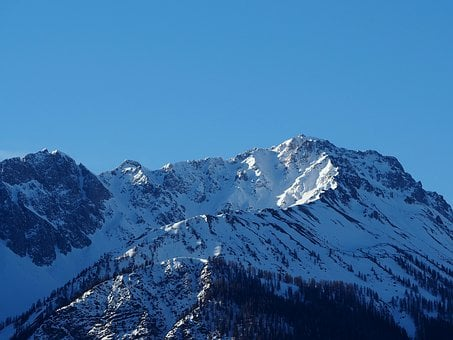 Mountains, Winter, Snow, Wintry, Landscape