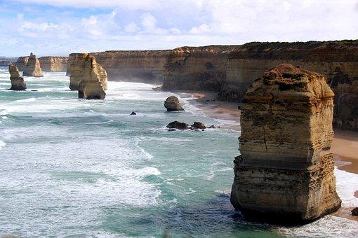 Apostles, Ocean, Road, Twelve, 12, Melbourne, Australia