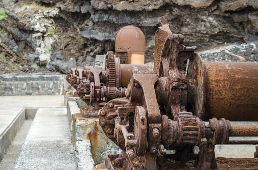 Rust, Machine, Metal, Old, The Mechanism Of, Monument