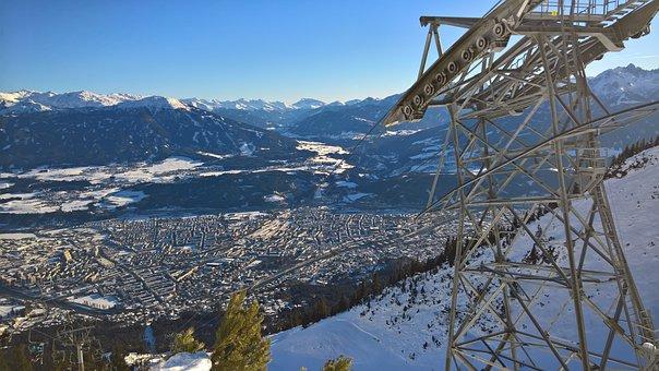 Innsbruck, Cable Car, Winter, Olympia, Austria