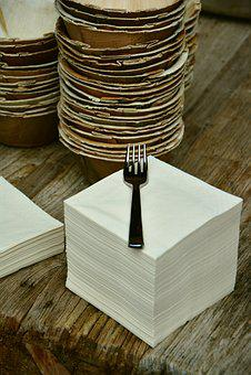 Napkins, Stack, Paper Napkins, Cardboard Tableware