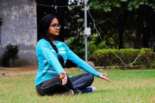 Girl, Meditation, Yoga, Posture, Calm, Peace, Exercise