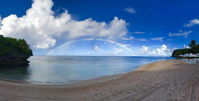 Rainbow, Natural, Sea, Relax, After The Rain