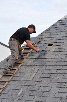 Roofer, Coverage, Artisan, Slate, Roof, Roofing