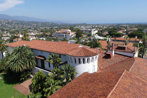 Santa Barbara, Vista, Landscape, Usa, California