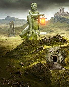 Fantasy, Landscape, Fantasy Landscape, Scenery, Dream