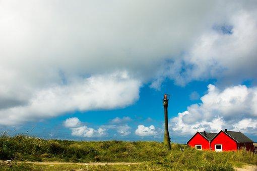 Skagen, Holiday, Denmark, Sea, Sunset, Water, Nature