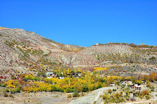 Turkey, Village, Slope, Valley, Canyon, Autumn, Season