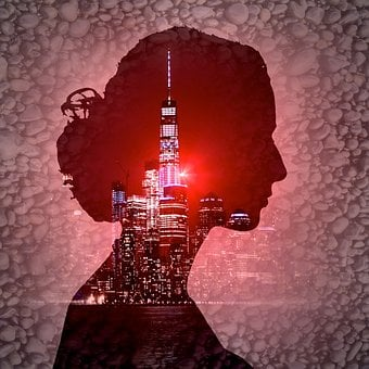 Cd Cover, City, Woman, Silhouette, Music, Entertainment