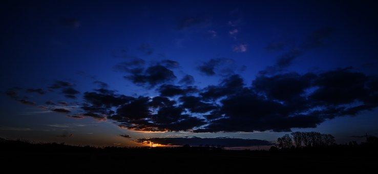 Sun, Setting, Sky, Nature, Mood, Dusk, Sunset