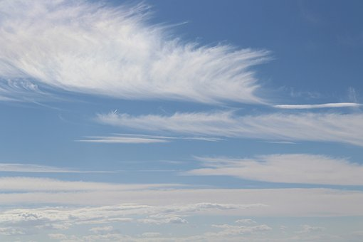 View Sky With Puffs Of Clouds, Sky, Clouds, White Cloud