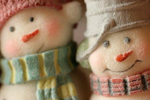 Snowmen, Snow Man, Winter, Christmas, Christmas Time