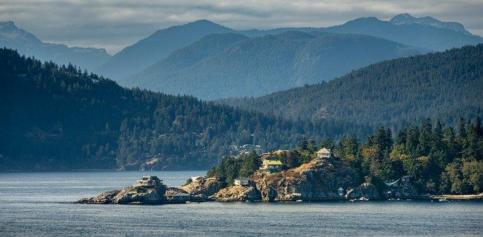Vancouver, Island, Canada, Coastline, Point, Coast