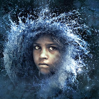 Cd Cover, Portrait, Water, Child, Composing