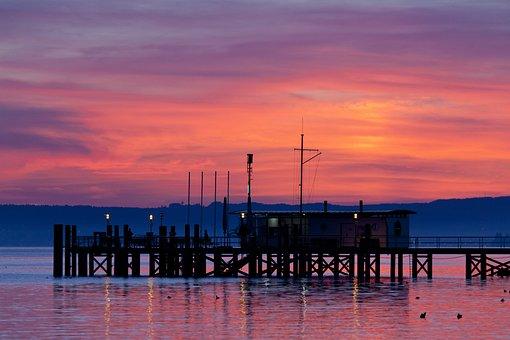 Sunset, Web, Boardwalk, Jetty, Romantic, Dusk, Pier