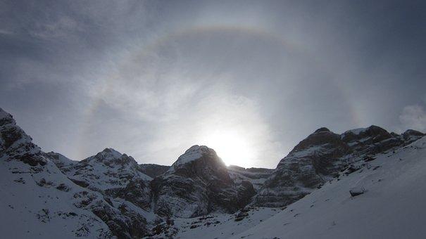 Winter, Mountain, Snowshoeing, Snow, Landscape, Nature
