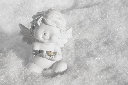 Angel, Guardian Angel, Wing, White, Golden, Sky