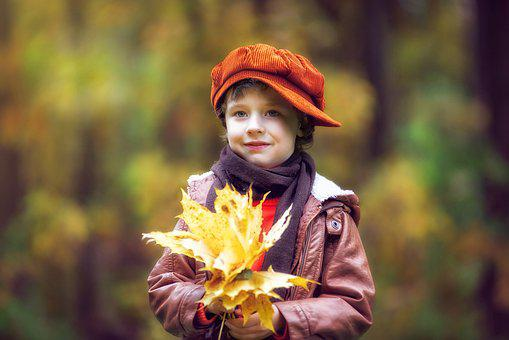 Park, Autumn, Autumn Park, Boy, Baby, Autumn Leaves