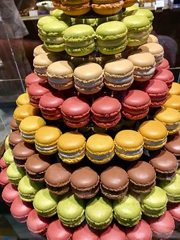 Macaron, French, Eat, Diet, Pink, Brand, Cream Layer