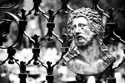 Cross, Jesus, Christian, Black And White, Religion