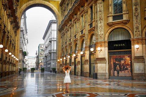 Milan, Italy, Architecture, Dance, Arcades, Shopping