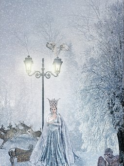 Snow Queen, Fairy Tales, Winter, Forest, Snow