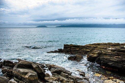 Ocean, Flint, Mar, Nature, Blue, Stones, Horizon, Rock