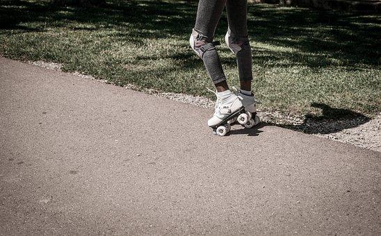 Rollerskating, Girl, Roller, Young, Active, Skating