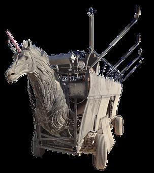 Burning Man, Horse, Dare, Torches, Horse Head