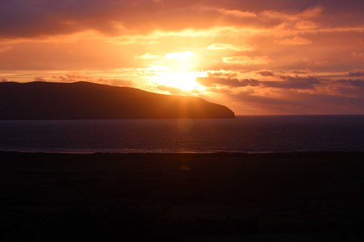 Sunset, Ireland, Dingle, Irish, Landscape, Travel