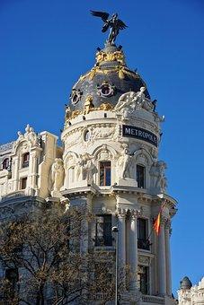 Metropolis, Spain, Madrid, Building, Metropolitan