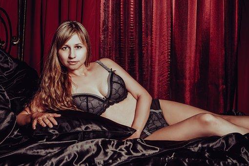 In Lingerie, Nude, Model, Legs, Sexy, Linen
