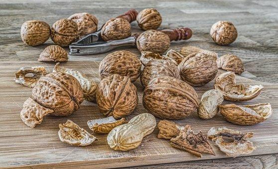 Nuts, Walnuts, Left Untreated, Walnut, Nut, Fruit Bowl