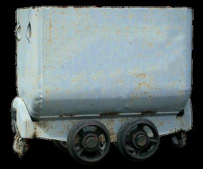 Hunt, Grubenbahn, Old, Underground, Ore, Transport Cart